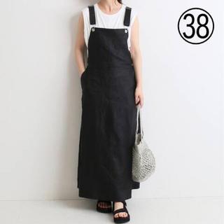 IENA SLOBE - 【38】SLOBE IENA リネンジャンパースカート ブラック