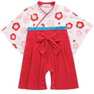 新品 和服ロンパース 袴風(和服/着物)