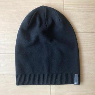 ナイキ(NIKE)のニット帽 ナイキ ブラック 綿(ニット帽/ビーニー)