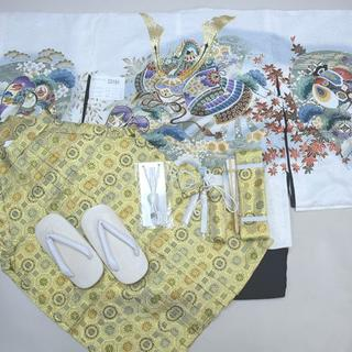 七五三 五歳 男児 羽織袴フルセット 豪華絢爛 袴変更可能 NO33191(和服/着物)