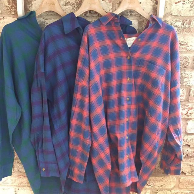 Ungrid(アングリッド)のチェックルーズシャツ レディースのトップス(シャツ/ブラウス(長袖/七分))の商品写真
