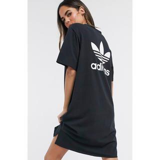 adidas - 【Lサイズ】新品未使用 adidas アディダス ミニ ロゴ Tシャツ ドレス