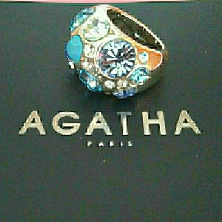 アガタ(AGATHA)のアガタ リング ブルー(リング(指輪))