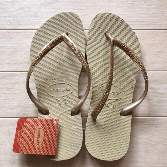 havaianas(ハワイアナス)のハワイアナス ビーチサンダル スリム 35-36 23〜23.5センチ レディースの靴/シューズ(ビーチサンダル)の商品写真