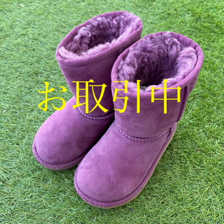 アグ(UGG)のUGG アグ  キッズ ムートンブーツ ① 16.0cm 可愛いパープル(ブーツ)