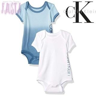 ラルフローレン(Ralph Lauren)のカルバンクライン 半袖ロンパース 2枚セット 70 CK ベビー服(ロンパース)