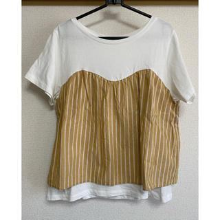スタディオクリップ(STUDIO CLIP)のスタディオクリップ重ね着風Tシャツ(Tシャツ(半袖/袖なし))