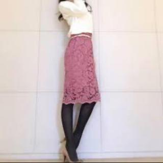 ジーユー(GU)のGU★レースタイトスカート (ひざ丈スカート)