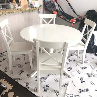 IKEA - 6/14まで限定出品!IKEA ダイニングテーブル ダイニングチェア セット