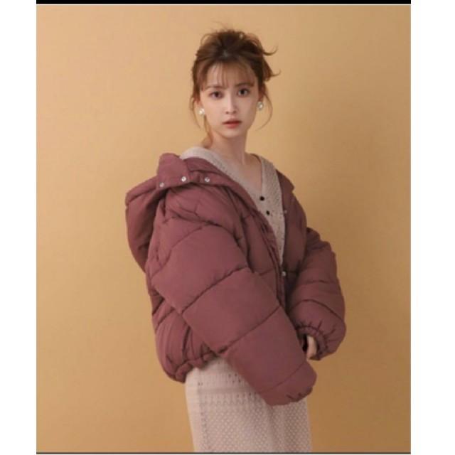 NICE CLAUP(ナイスクラップ)のナイスクラップ エコダウンコート ピンクブラウン レディースのジャケット/アウター(ダウンジャケット)の商品写真