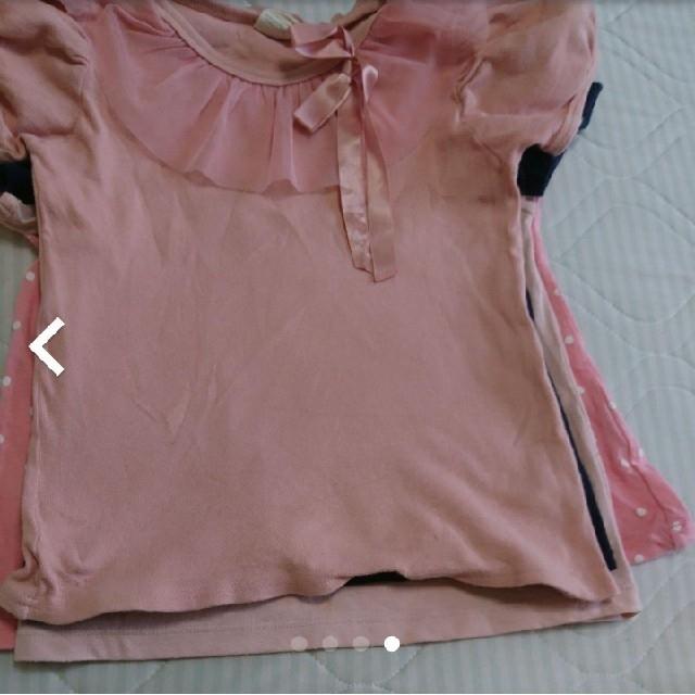 GU(ジーユー)のGU他☆130㎝女の子半袖Tシャツ3枚セット キッズ/ベビー/マタニティのキッズ服女の子用(90cm~)(Tシャツ/カットソー)の商品写真
