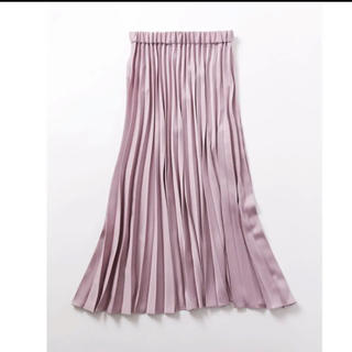 デミルクスビームス(Demi-Luxe BEAMS)のDemi-Luxe BEAMS / サテン プリーツスカート ピンク 38(ロングスカート)