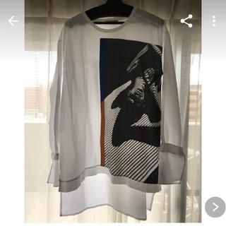 ザラ(ZARA)のロングプリントドッキングシャツ(シャツ/ブラウス(長袖/七分))