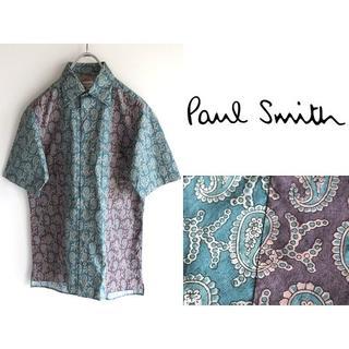 ポールスミス(Paul Smith)の美品 ポールスミスメインライン ペイズリー切替 ボックスシャツ S(シャツ)