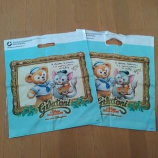 ディズニー(Disney)の香港ディズニーランド ショップ袋  ダッフィ&ジェラトーニ(ショップ袋)