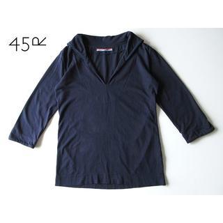 フォーティーファイブアールピーエム(45rpm)のUmii908 45rpm 藍染 セーラー襟 カットソー 3 ゆったり(カットソー(長袖/七分))