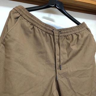 GU - GU パンツ ズボン スウェット スラックス 裾絞り カーキ色 夏ズボン