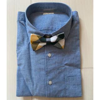 ジーユー(GU)の新郎衣装★シャツ★ウィングカラーシャツ★ブルー★結婚式★前撮り★ウェディング(シャツ)