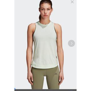 アディダス(adidas)のW adidas Z.N.E. タンクトップ ヨガウェア ライトグリーン(ヨガ)