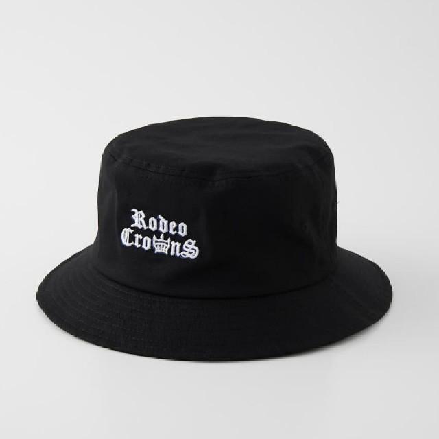 RODEO CROWNS WIDE BOWL(ロデオクラウンズワイドボウル)の新品ブラック アソートバケットハット メンズの帽子(ハット)の商品写真