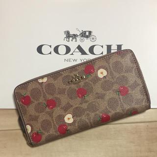 COACH - 新品 [COACH コーチ] 長財布 りんご柄 アップル