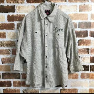 X-girl - 【X-girl】ミッキー刺繍ストライプシャツ