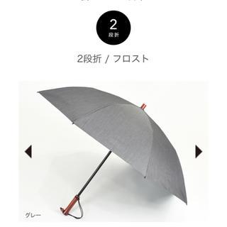 【新品 未使用】サンバリア 100 日傘 2段折 シャンブレー フロスト グレー(傘)