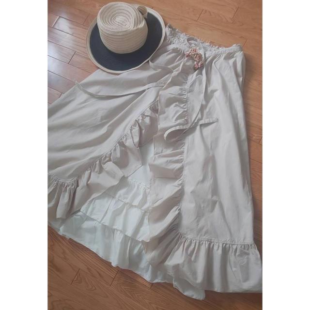 PINK HOUSE(ピンクハウス)の美品☆ピンクハウスネオダスティタンブラー×巻きスカート レディースのスカート(ロングスカート)の商品写真