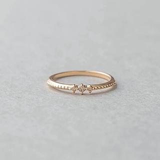 エテ(ete)のete エテ K10 ダイヤモンド ピンキーリング(リング(指輪))