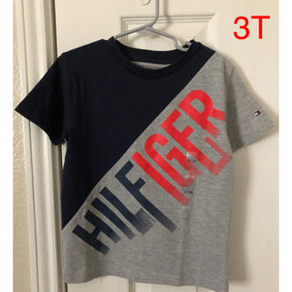 TOMMY HILFIGER - Tommy Hilfiger 斜めプリントロゴTシャツ キッズ3T