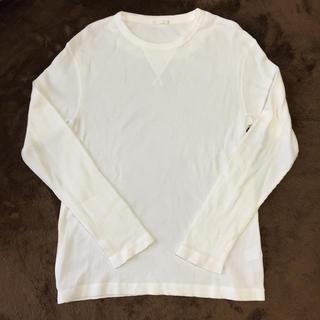 ジーユー(GU)のGU 長袖トップス オフホワイトM メンズ(Tシャツ/カットソー(七分/長袖))