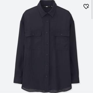 ユニクロ(UNIQLO)の(ユニクロ)ドレープウォッシュワークシャツ(長袖)(シャツ/ブラウス(長袖/七分))