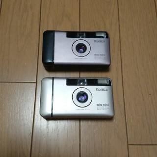 コニカミノルタ(KONICA MINOLTA)のコニカビックミニ  BM301 2台 実用ジャンク(フィルムカメラ)
