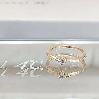 4℃ - 美品 Canal4℃ カナルヨンドシー K18 ダイヤモンドリング