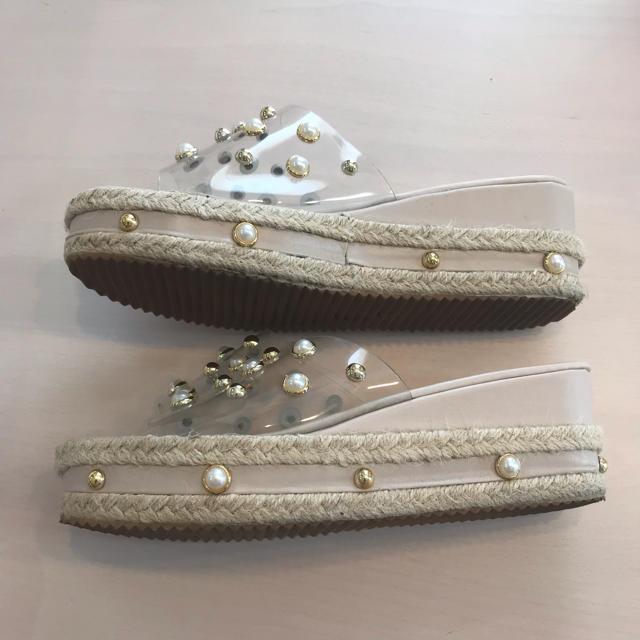 クリアサンダル レディースの靴/シューズ(サンダル)の商品写真