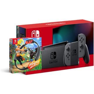 Nintendo Switch - Nintendo Switch 新モデル グレー+リングフィット アドベンチャー