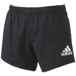 アディダス(adidas)の新品 Sサイズ adidas ラグビーパンツ・ラグビーショーツ 黒X白 (ラグビー)