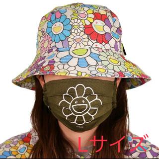 村上隆 Flower Mask  Moss green(WH) L お花マスク
