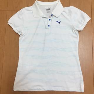 プーマ(PUMA)の【美品】PUMA 白ポロシャツ(ポロシャツ)
