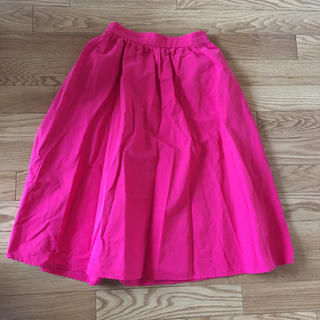 ジーユー(GU)のイージーカラーフレアスカート ピンク(ひざ丈スカート)