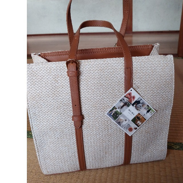 しまむら(シマムラ)のしまむら×MUMU スクエアフォルムトートバッグ レディースのバッグ(トートバッグ)の商品写真