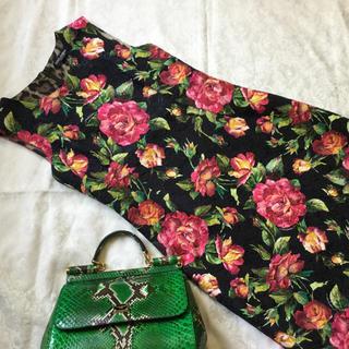 ドルチェアンドガッバーナ(DOLCE&GABBANA)のドルチェ&ガッバーナ ワンピース 美品(ひざ丈スカート)