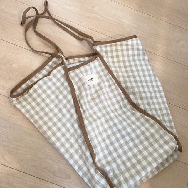 dholic(ディーホリック)のDHOLIC ギンガムチェックバッグ ベージュ トートバッグ レディースのバッグ(トートバッグ)の商品写真