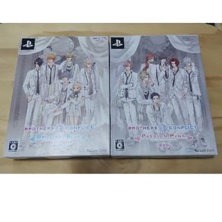 プレイステーションポータブル(PlayStation Portable)のブラザーズ コンフリクト ブリリアントブルー パッションピンク(限定版) PSP(携帯用ゲームソフト)