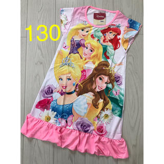 ディズニー(Disney)の【半袖】プリンセス ワンピース 130(ワンピース)