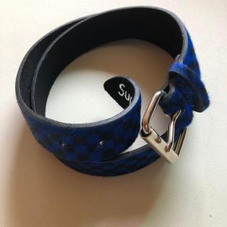 シュプリーム(Supreme)の supreme checker pony hair belt  16aw 美品(ベルト)