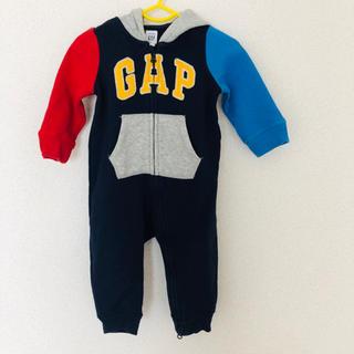 ベビーギャップ(babyGAP)の【70cm】babyGAP カバーオール 裏起毛 フード付き(カバーオール)