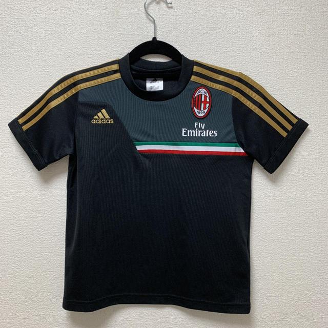 adidas(アディダス)のadidas アディダス ACミラン代表 ユニフォーム 子供用Tシャツ スポーツ/アウトドアのサッカー/フットサル(ウェア)の商品写真