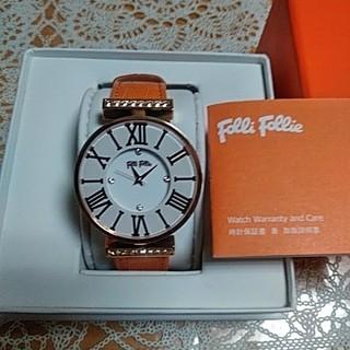 フォリフォリ(Folli Follie)の新品!フォリフォリのオレンジ腕時計(腕時計)