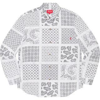 Supreme - 未開封 XL Supreme Paisley Grid Shirt White